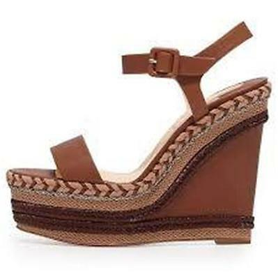CHRISTIAN LOUBOUTIN NEW DUPLICE 120 Espadrille Rope Wedge