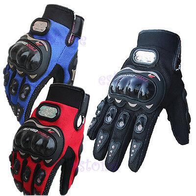 Pro-biker Motorcycle Motorbike Motocross Racing Cycling Full Finger Gloves XL