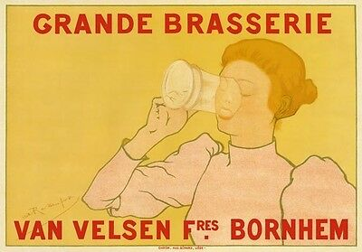 AP141 Vintage French Grande Brasserie Brewery Advertisement Poster Card Print A5