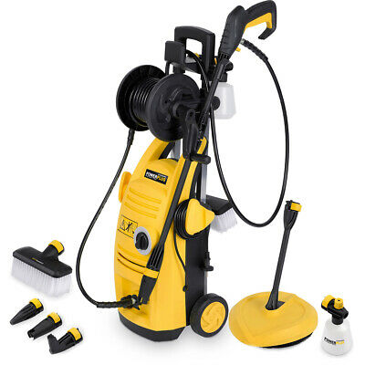 Powerplus 1900w Electric 135BAR Power Pressure Jet Washer Patio Cleaner Lance