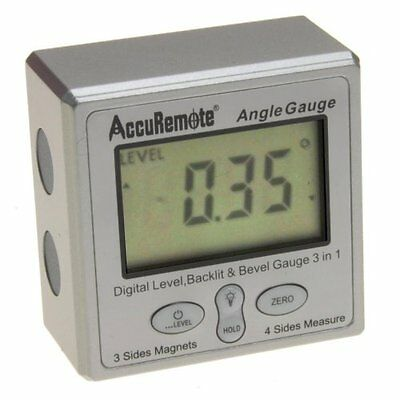 Digital Angle Cube w/BACK LIGHT Gage Electronic Gauge Protractor Magnetic Base