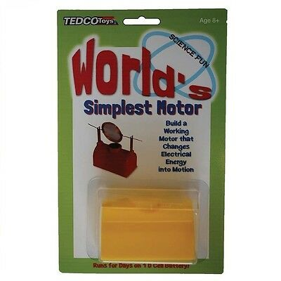 (1) World's Simplest Motor Electricity Education Kit Science Classrooms Project