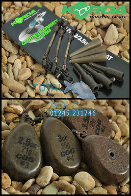Korda COG Lead System Full Kit 'Centre Of Gravity' *Includes 3x COG Leads*