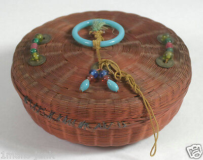 From Betty-Lou's Collection Antique Chinese Sewing Basket pg147 PLUS 1st ed BOOK