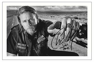 Charlie Hunnam Sons Of Anarchy Signed Photo Print Autograph Jax Teller Soa