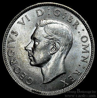 Great Britain 1 Florin 1943 UNC/BU silver KM#855 2 Shillings George VI.