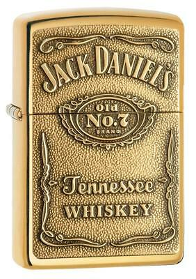 Zippo Jack Daniel's Brass Emblem Lighter 254BJD.428 NEW