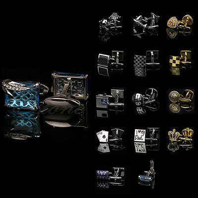Lots Stylish Men's Stainless Steel Vintage Jewelry Wedding Gift Cuff Links