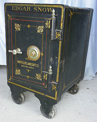 Antique Iron Safe with working combination