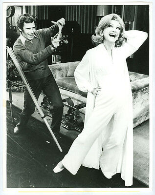 ANNE BAXTER, KEITH CHARLES original wire photo 1971 APPLAUSE