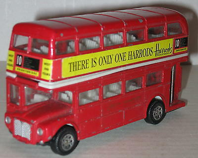 "Harrods Double Decker Die-Cast Bus by Juniors 4.75"" x 2.5"""