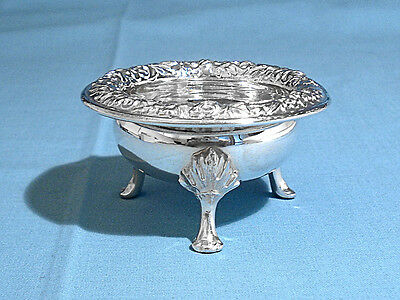 S Kirk & Son Sterling Footed Open Salt #58 ~ Repousse ~ No Mono