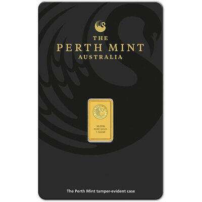 1 gram Gold Bar - Perth Mint - 99.99 Fine in Assay