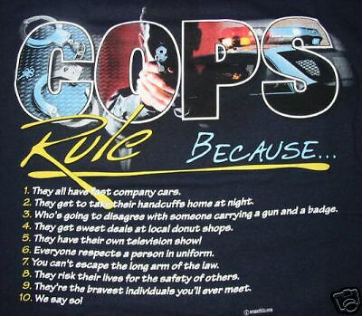 Law Officer Police COPS RULE t-shirt size MD