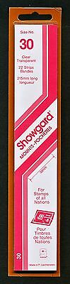 Showgard Stamp Mounts Size 30/215 CLEAR Background Pack of 22