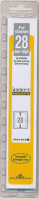 Prinz Scott Stamp Mount 28/215 CLEAR Background Pack of 22 (924C)
