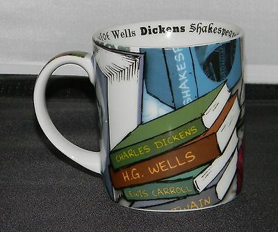 Paul Cardew Novel-Tea Mug 2009 Dickens, Wells, Twain, Shakespeare, Orwell, more