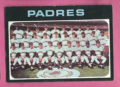 1971 Topps San Diego Padres Team Card Black Touched Up VG #482