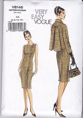 Very Easy Vogue Sewing Pattern Misses' Jacket & Dress Sizes 6 - 20 V8146