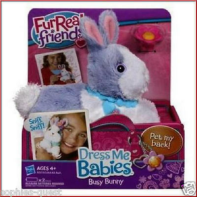 FurReal Friends DRESS ME Babies - BUSY Baby BUNNY Rabbit - Sounds + Moves *NEW*