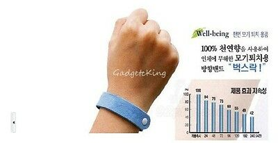 10 Anti Mosquito Bug Repellent Wrist Band Bracelet Insect Bug Lock Camping Moz