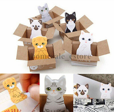 Funny Kitty House Sticker Post It Bookmark Mark Tab Memo Sticky Notes Cute Cat