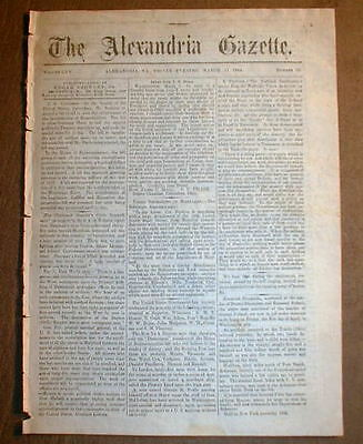 1864 Alexandria VIRGINIA Civil War newspaper NEGRO SOLDIERS recruited n MARYLAND