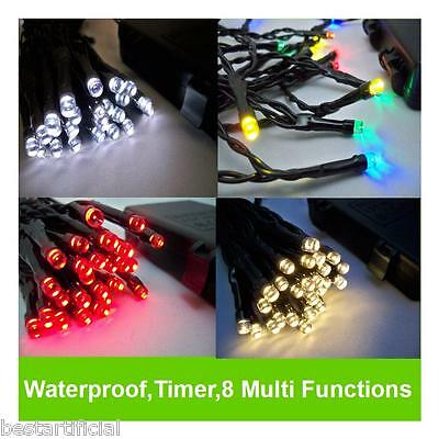 LED Outdoor WATERPROOF Battery Christmas Lights String Fairy Timer 8 Functions