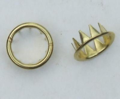Pair wall or mantle clock brass keyhole grommets collet