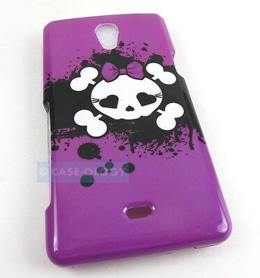 PINK CUTE SKULLS HARD SHELL SNAP-ON CASE COVER SONY XPERIA TL ACCESSORY