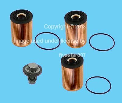 __3  BOSCH__Engine Oil Filter kit Set_+_1_Drain Plug with Seal__for Mini Cooper_