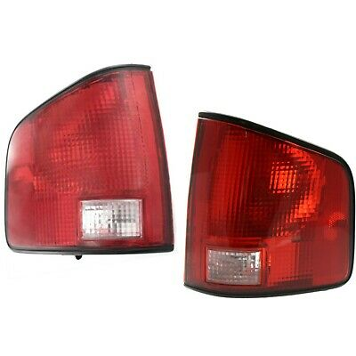 Halogen Tail Light Set For 1994-2002 Chevy S10 Left & Right Clear/Red Lens 2Pcs