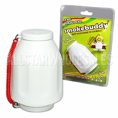 Smoke Buddy Original WHITE Personal Air Odor Purifier Cleaner Filter + Key chain