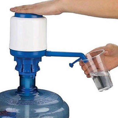 5 Gallon Hand Press Pump for Water Bottle Jug Manual Drinking Tap Spigot Camping
