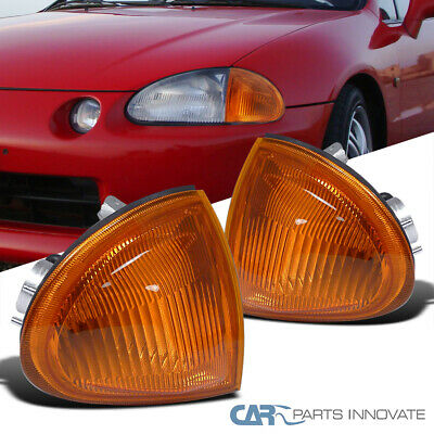 Fit Honda 93-97 del Sol S Si Vtec Corner Lights Turn Signal Lamp Amber