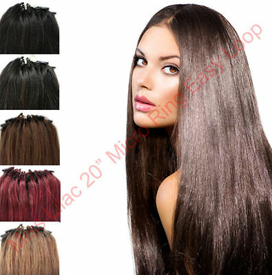 22'' Micro Ring Easy Loop DIY Salon Quality 100% Real Remy Human Hair Extensions