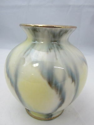 WEST GERMANY - 511 - Yellow White & Blue - POTTERY VASE - 13G
