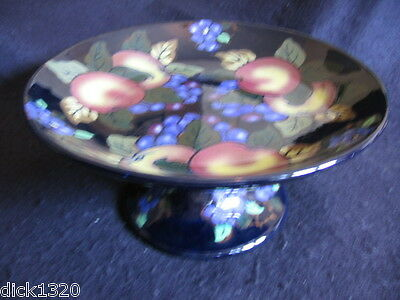 "ART DECO ROYAL STANLEY 8.5"" TAZZA 'JACOBEAN' GRAPE & PEACH PATTERN c.1920-1928"