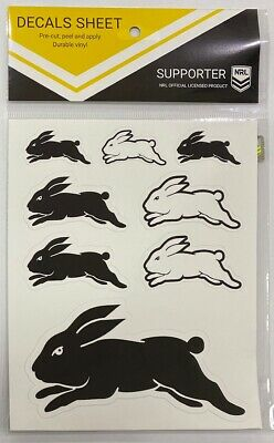62822 South Syd Rabbitohs Nrl Set Of 5 Uv Car Decal Sticker Stickers Sheet Itag