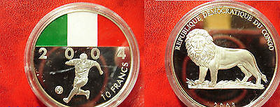 2003 Congo Large Color 10 Fr World Cup Soccer Germany 2004-Italy