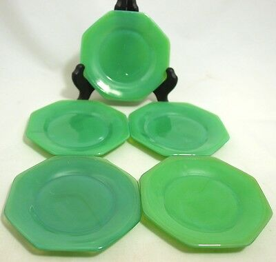 Akro Agate - Octagonal Large Child's Plate - Green - (5)