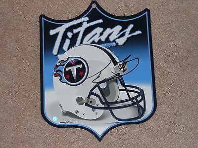 Tennessee Titans Taylor Lewan Signed Wall Hanger/shield  Coa From Mma