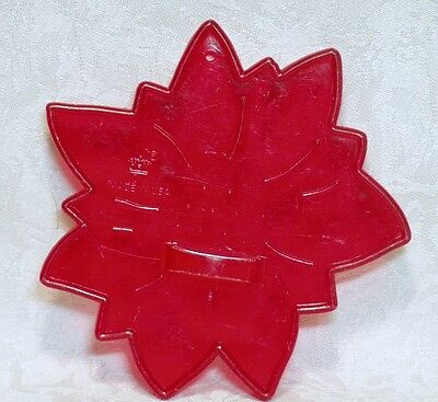 HRM Vintage Design Red Plastic Cookie Cutter - Christmas Poinsettia Bloom Nature