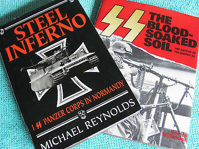 SS: BLOOD SOAKED SOIL & STEEL INFERNO 1st PANZER CORPS IN NORMANDY 2 VOL Set