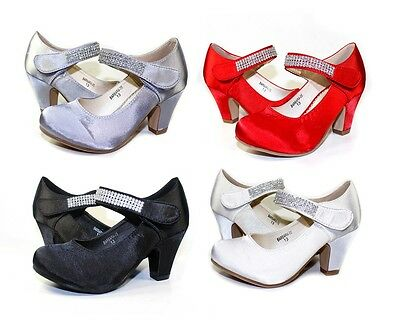 "BARBARA-05 Cute Wedding Church party Kids/Toddlers/Youth Combat 2"" Heel Shoes"