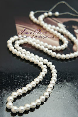 *150 pcs/strand 6mm White Sewing ABS Imitation Plastic Round Loose Pearl Beads*