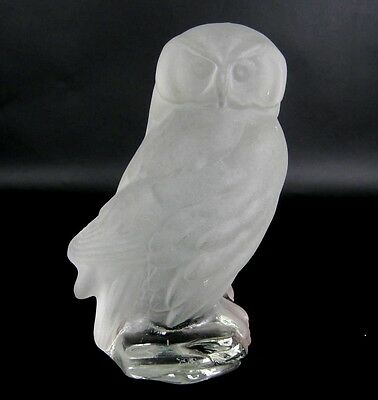 Goebel Glas Figur / Eule signiert Glass Figurine / Owl signed Frosted 18,5cm