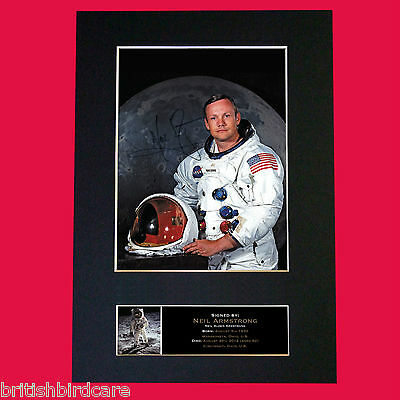 NEIL ARMSTRONG RARE Signed Autograph Mounted Photo Repro A4 Print 496