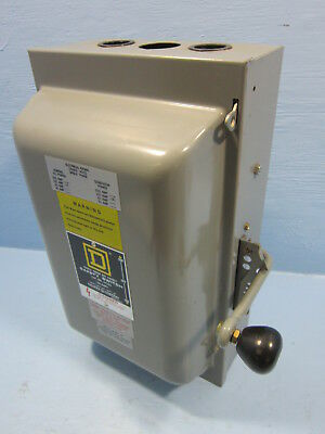 Square D 82253 Double Throw Safety Switch 100 Amp 240V Manual Transfer Switch E1