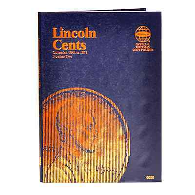 Whitman Blue Coin Folder 9030 Lincoln Cents #2 1941 - 1974 Penny Album / Book